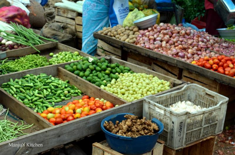 Kerala Market | Manju's KitchenKerala Vegetable Market