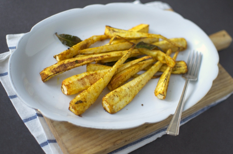 Roasted parsnip with spices