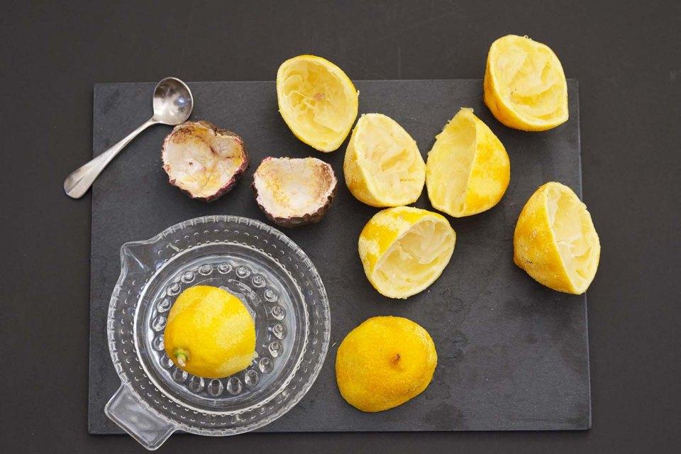 Lemon and passion fruit bars