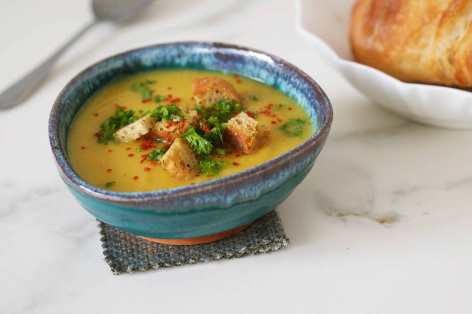 Creamy Swede Soup with Coriander and Turmeric